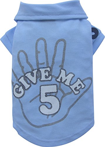 Doggy Dolly BD133 Big Dog Give me 5 Polo Shirt für Große Hunde, blau, Größe : S