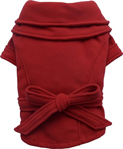 Doggy Dolly W311 Fleece Hundemantel, rot, Größe : L