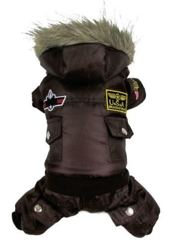 Vlunt Hund warm winter Hund-Mantel-Jacke USA AIR FORCE Wasserdicht pet hoody Kleidung fuer kleine Hund