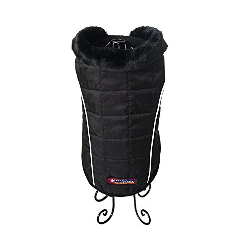 pineocus schwarz Pet Hunde Jacke Winter Mantel S - 4
