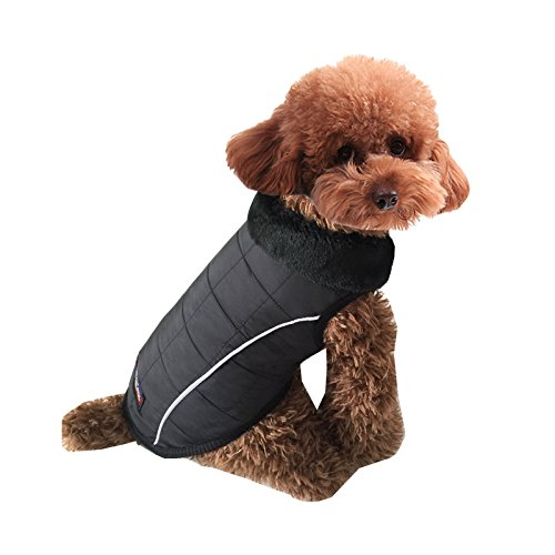 pineocus schwarz Pet Hunde Jacke Winter Mantel S - 8