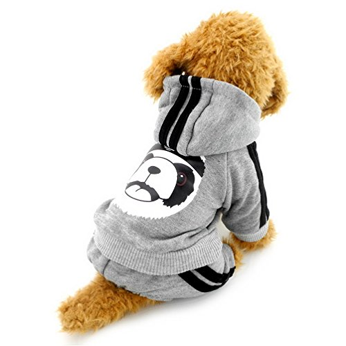 Pegasus Dick Warm Panda Hoodies Hund Jumpsuits Fleece Sweatshirt Fashion, für kleine Hunde/Katzen