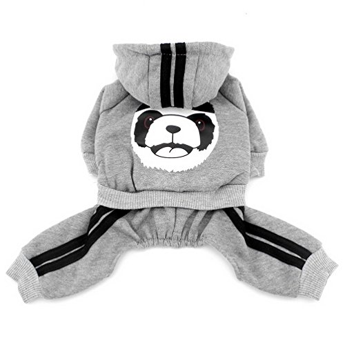 Pegasus Dick Warm Panda Hoodies Hund Jumpsuits Fleece Sweatshirt Fashion, für kleine Hunde/Katzen - 3