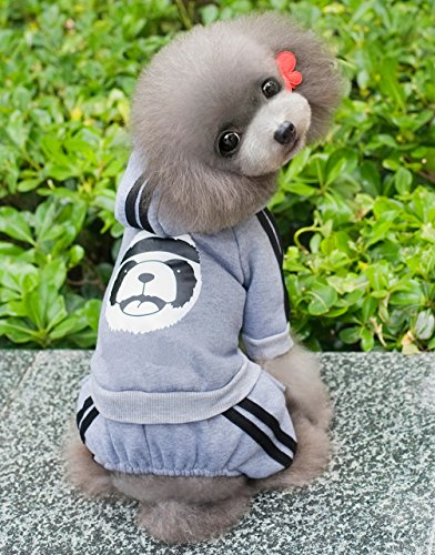 Pegasus Dick Warm Panda Hoodies Hund Jumpsuits Fleece Sweatshirt Fashion, für kleine Hunde/Katzen - 5