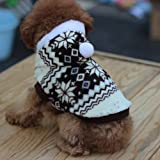 tqwy Lovely Cozy Coral Fleece Winter Schneeflocke Print Hundemantel/Overall/Pet Kleidung - 3