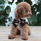 tqwy Lovely Cozy Coral Fleece Winter Schneeflocke Print Hundemantel/Overall/Pet Kleidung - 4