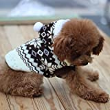 tqwy Lovely Cozy Coral Fleece Winter Schneeflocke Print Hundemantel/Overall/Pet Kleidung - 5