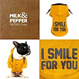 MILK & PEPPER MP1404 Hunde-Sweater Hoody Gatsby Curry Gr. 28 mit edlem Aufdruck - 4