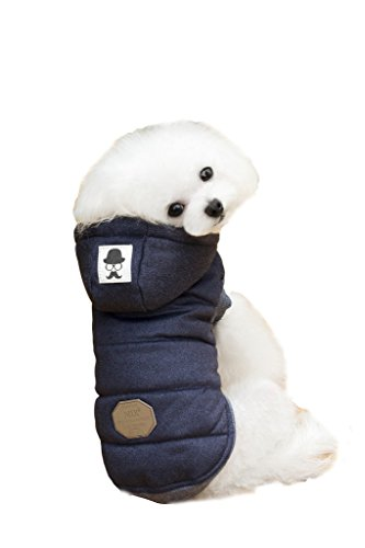 pineocus einfach Baumwolle Pet Hunde Wintermantel Blau XL