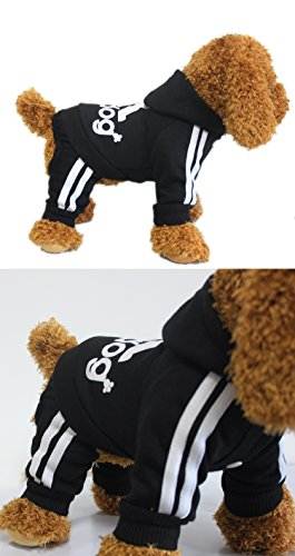 scheppend Hundemantel Adidog Vier Beine Pet Outfits Hund Katze Hoodies Pullover Coat Puppy Sport Apparel T Shirt Warm Kleidung Sweatshirt - 2