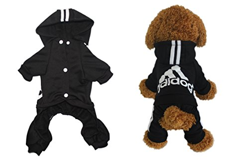 scheppend Hundemantel Adidog Vier Beine Pet Outfits Hund Katze Hoodies Pullover Coat Puppy Sport Apparel T Shirt Warm Kleidung Sweatshirt - 3