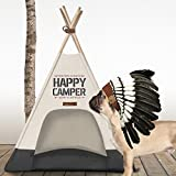 Milk & Pepper Hundezelt Happy Camper Tipi Ivory 70cm MP501261