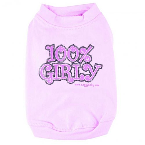 Hundeshirt 100% Girly rosa von Doggydolly