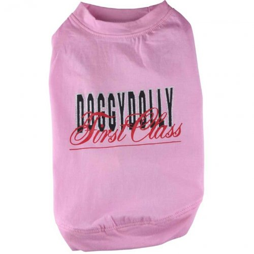 Hundeshirt First Class rosa von Doggydolly