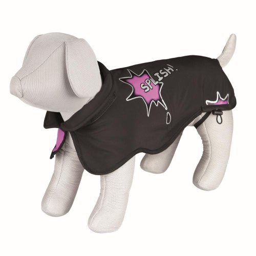 Trixie Mantel Avallon Splish Splash, Softshell II, M: 50 cm, schwarz/pink