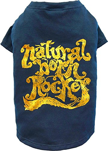 Doggy Dolly T513 Hundeshirt Natural Born Rocker, blau, Größe : XS