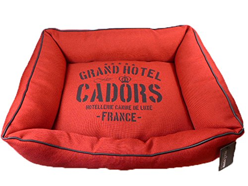 "Milk & Pepper - Hundebett. Hundesofa, ""Grand Hotel Cadors Paris"", rot, 55 x 45"