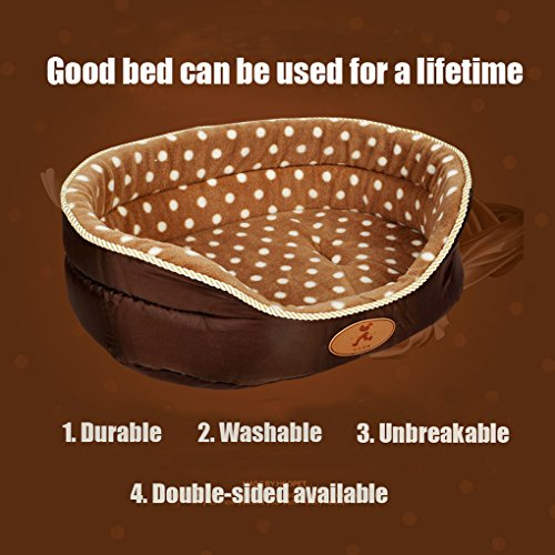 Double sided available all seasons Big Size extra large dog bed House sofa Kennel Soft Fleece Pet Dog Cat Warm Bed s-xl - 3