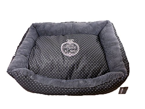 "Milk & Pepper - Hundebett, Hundesofa ""Suite Royale No.1 Paris"", schwarz/weiß, 65 x 50"