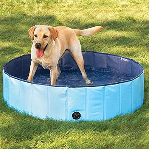 Forever Speed Hundepool Doggy Pool Hunde Pool Planschbecken Swimmingpool Badewanne Pool Φ 160 x 30 cm Blau Umweltfreundliche PVC