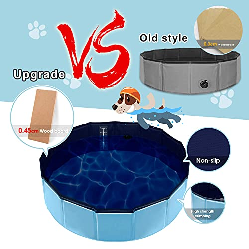 Forever Speed Hundepool Doggy Pool Hunde Pool Planschbecken Swimmingpool Badewanne Pool Φ 160 x 30 cm Blau Umweltfreundliche PVC - 7