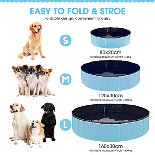 Forever Speed Hundepool Doggy Pool Hunde Pool Planschbecken Swimmingpool Badewanne Pool Φ 160 x 30 cm Blau Umweltfreundliche PVC - 6