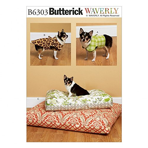 Butterick Schnittmuster 6303 Hund Betten, Weste & Coat + Gratis Minerva Crafts Craft Guide