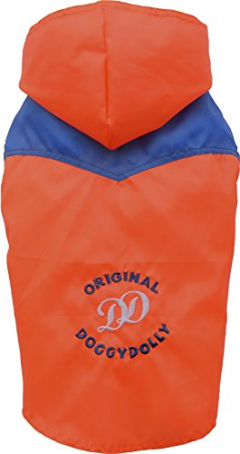 Doggy Dolly DR046 Regenjacke für Hunde Original, orange/blau, Größe : XL