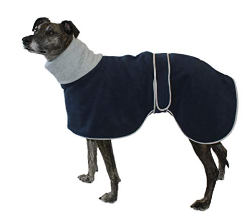 Cosipet Greyhound Polo Hundemantel, 71 cm, Blau