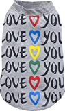 Doggy Dolly T180 Hundeshirt Love You, grau, Größe : XL