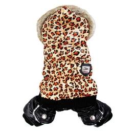 Chinatera NeueWinter Warm Hund Leopard Hoodie Mantel Haustier Kleidung (S) - 1