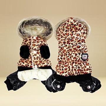 Chinatera NeueWinter Warm Hund Leopard Hoodie Mantel Haustier Kleidung (S) - 2