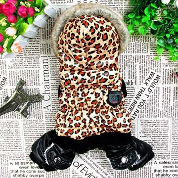 Chinatera NeueWinter Warm Hund Leopard Hoodie Mantel Haustier Kleidung (S) - 4