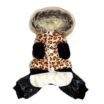 Chinatera NeueWinter Warm Hund Leopard Hoodie Mantel Haustier Kleidung (S) - 5