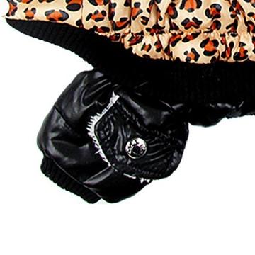 Chinatera NeueWinter Warm Hund Leopard Hoodie Mantel Haustier Kleidung (S) - 7