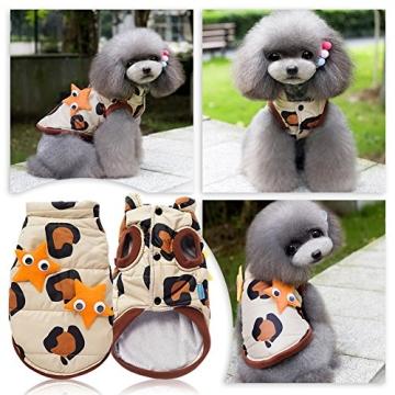 Chinatera Winter Hund Katze Hoodie Jacke Mantel Haustier Kleidung (8#) - 3