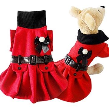 Chinatera Winter Warm Hund Katze Hoodie Mantel Haustier Kleidung (S) - 2