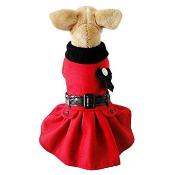 Chinatera Winter Warm Hund Katze Hoodie Mantel Haustier Kleidung (S) - 4