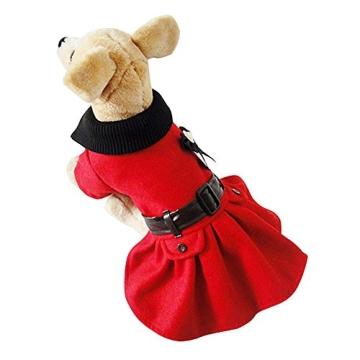 Chinatera Winter Warm Hund Katze Hoodie Mantel Haustier Kleidung (S) - 5