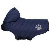 Hundemantel Pfötchen, Blau - ca. 40 cm Rückenlänge