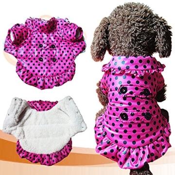 Chinatera Winter Hund Katze Hoodie Jacke Mantel Haustier Kleidung (Rosa, S) - 3