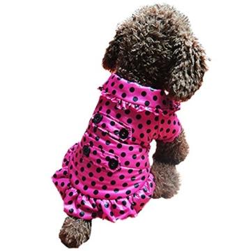 Chinatera Winter Hund Katze Hoodie Jacke Mantel Haustier Kleidung (Rosa, S) - 4