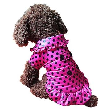 Chinatera Winter Hund Katze Hoodie Jacke Mantel Haustier Kleidung (Rosa, S) - 5