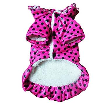 Chinatera Winter Hund Katze Hoodie Jacke Mantel Haustier Kleidung (Rosa, S) - 6