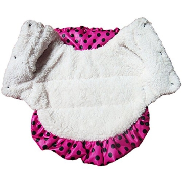 Chinatera Winter Hund Katze Hoodie Jacke Mantel Haustier Kleidung (Rosa, S) - 8