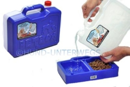 Petbox Mobile Futterbox Wasserbox Gelb