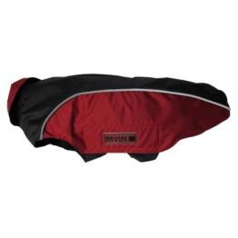 Wolters Regenjacke Easy Rain für Mops und Co in schwarz und rot - 38cm