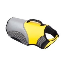 EQDOG Hundeschwimmweste Security Gelb, Farbe: neongelb-grau, Gr. 4