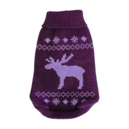 Wolters Strickpullover Elch brombeer/lavendel 40 cm