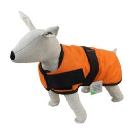Dog Coat 45 cm orange/schwarz 45 cm